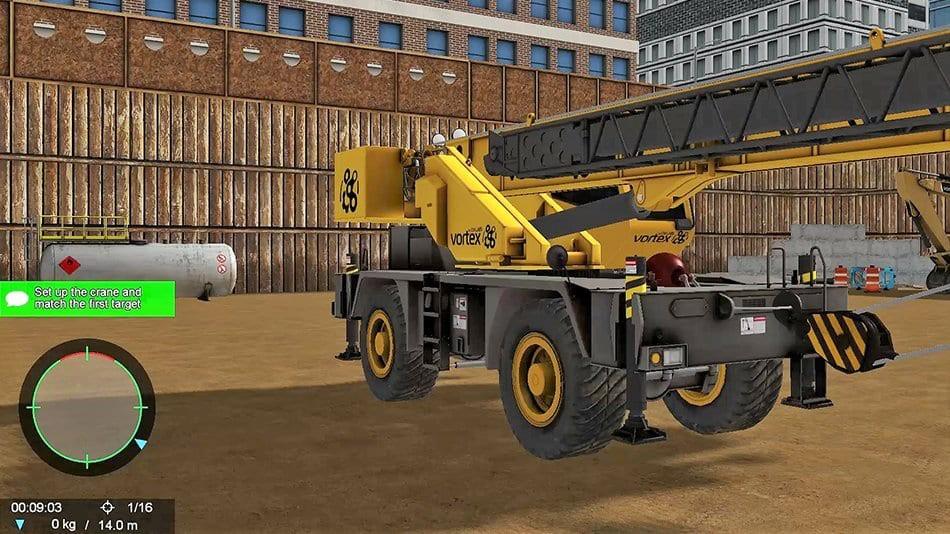 CM Labs' new Mobile Crane Simulator Training Pack features tandem lift exercise