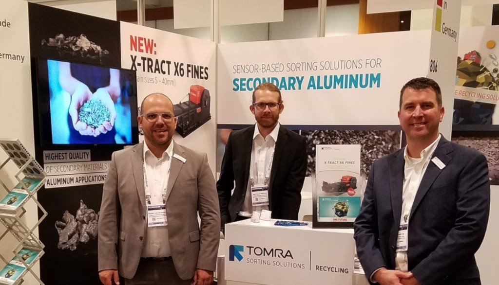 TOMRA at Aluminum USA 2019 where X-TRACT X6 FINES was introduced to the industry.