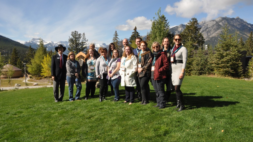 The Recycling Council of Alberta Waste Reduction Conference, 2018 tour group, in Banff, Alberta.