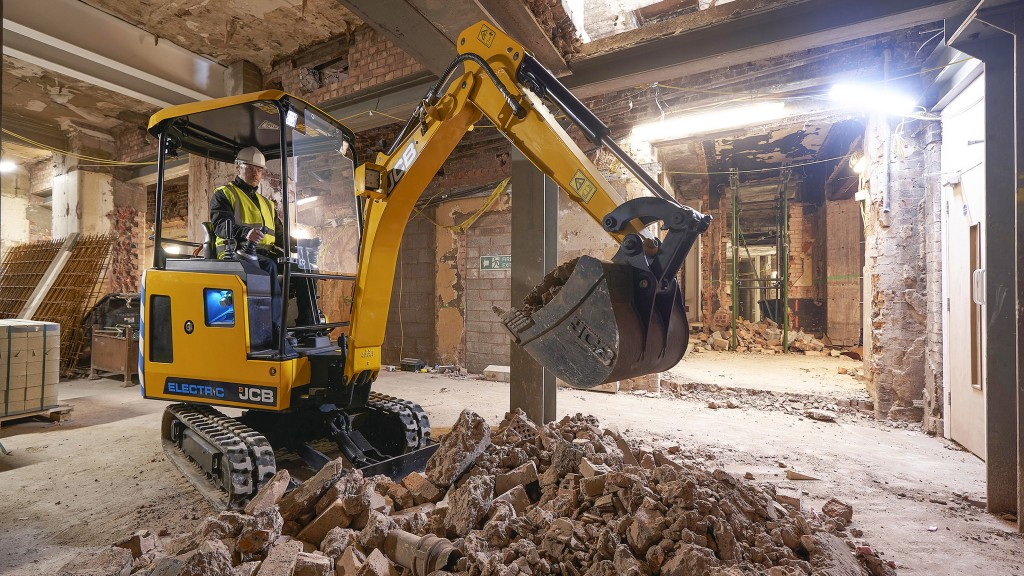 The JCB 19C-1E electric mini excavator, the first of the company's new E-TEC range, is now available at JCB dealers across the United States and Canada.