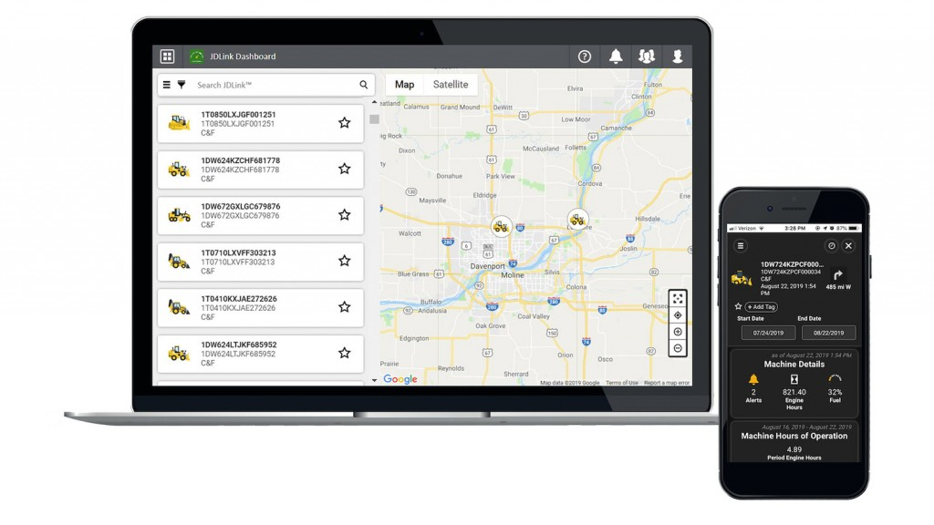 """""""Machine technology, specifically connectivity, continues to create new opportunities for fleet managers to maximize their equipment and revolutionize everyday tasks,"""" said Ana Mallia, product marketing manager, JDLink."""