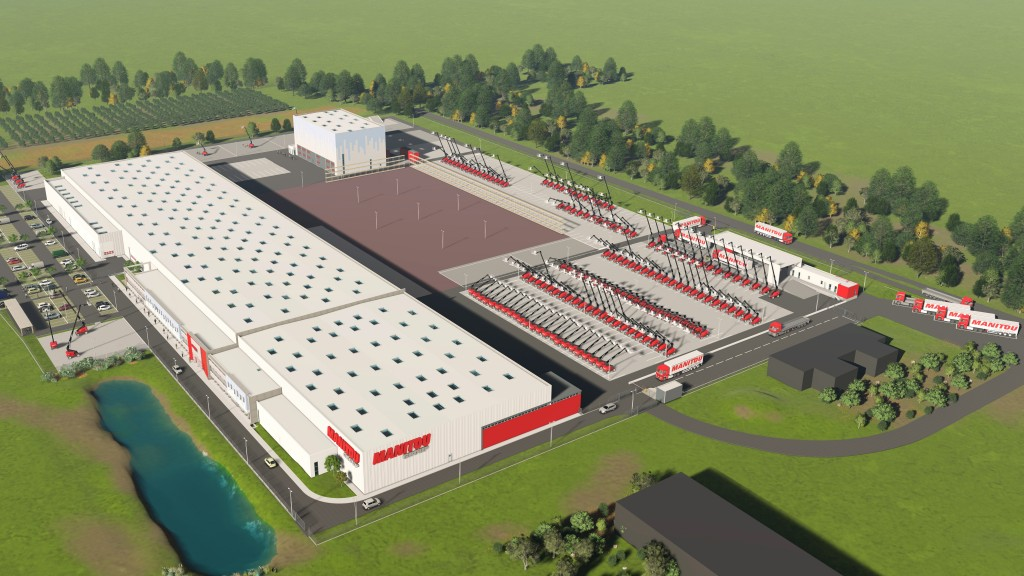Manitou begins construction of new aerial work platform factory in France