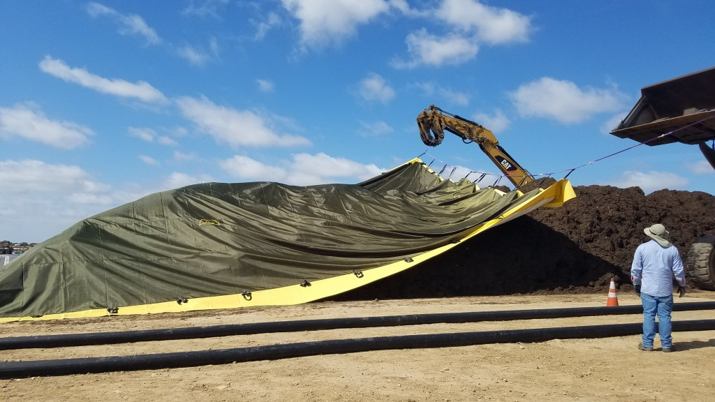 The City of San Diego, working with SCS Engineers, has designed and constructed a covered aerated static pile (ASP) composting system.