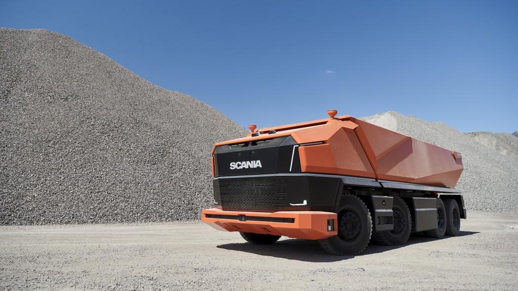 Scania's latest autonomous truck reveals cabless concept