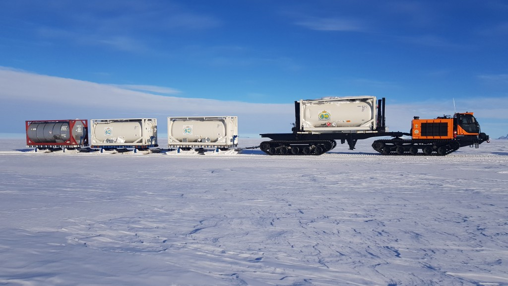 """""""This project certainly challenged our teams to push boundaries to refine our know how and to come up with a cutting-edge machine to allow traveling in the crude climate of the Antarctic while still providing the same high levels of productivity PRINOTH is renowned for,"""" says Engineering Director, Eric Steben."""