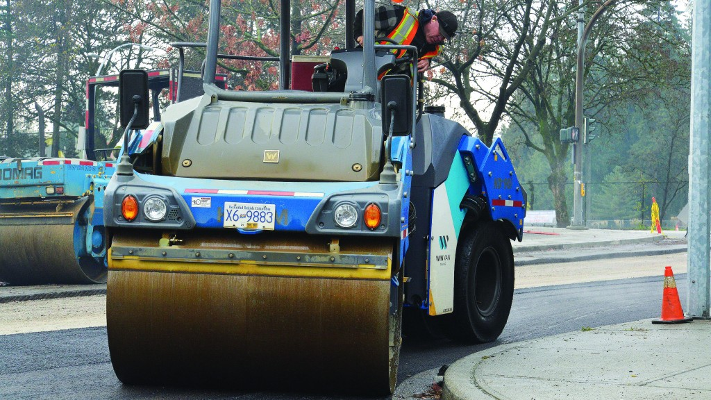 Wirtgen equipment works for Winvan Paving on a variety of jobs in southern B.C.