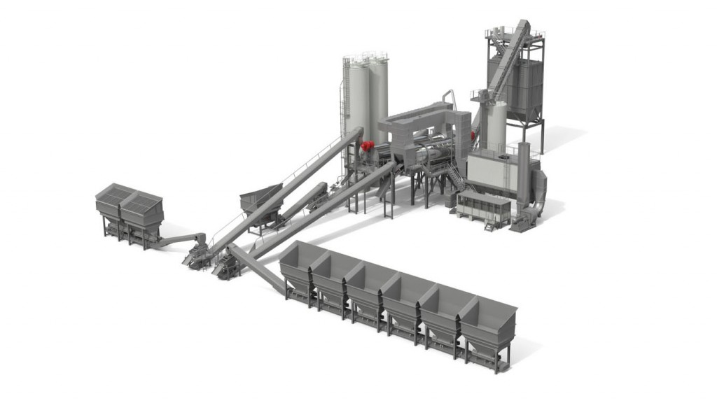 The ACP 300 ContiHRT can also produce high amounts of mix without any RAP. Warm mix can be produced with or without RAP. Continuous production capacity is 330 U.S. tons per hour.