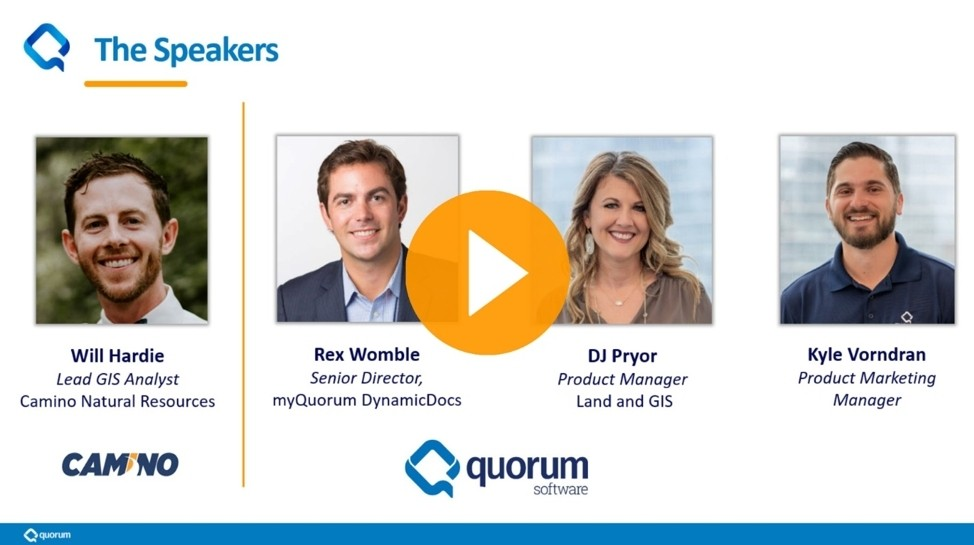 "Quorum is releasing the webcast, ""See the Value of Intelligent Document Classification and Search"" where Camino Natural Resources will outline how DynamicDocs streamlined their acquisitions (Photo: Business Wire)"