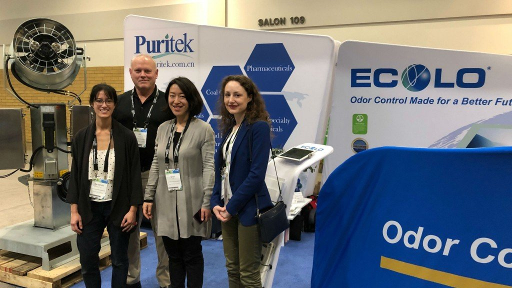 On the show floor with Ecolo Odor Control at CWRE 2019