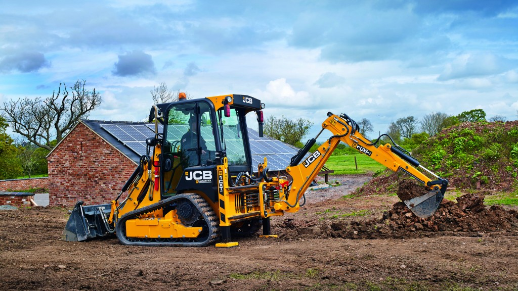 JCB will display and demonstrate the new 1CXT compact backhoe loader at the 2019 GIE+EXPO. The JCB 1CXT is the only tracked backhoe loader in North America. It has a 60 percent smaller footprint than a full-size backhoe and can be towed between job sites without a Commercial Driver's License (subject to local regulations).