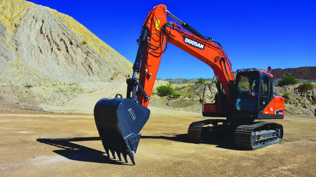 Doosan  excavator  brings power and lighter  weight