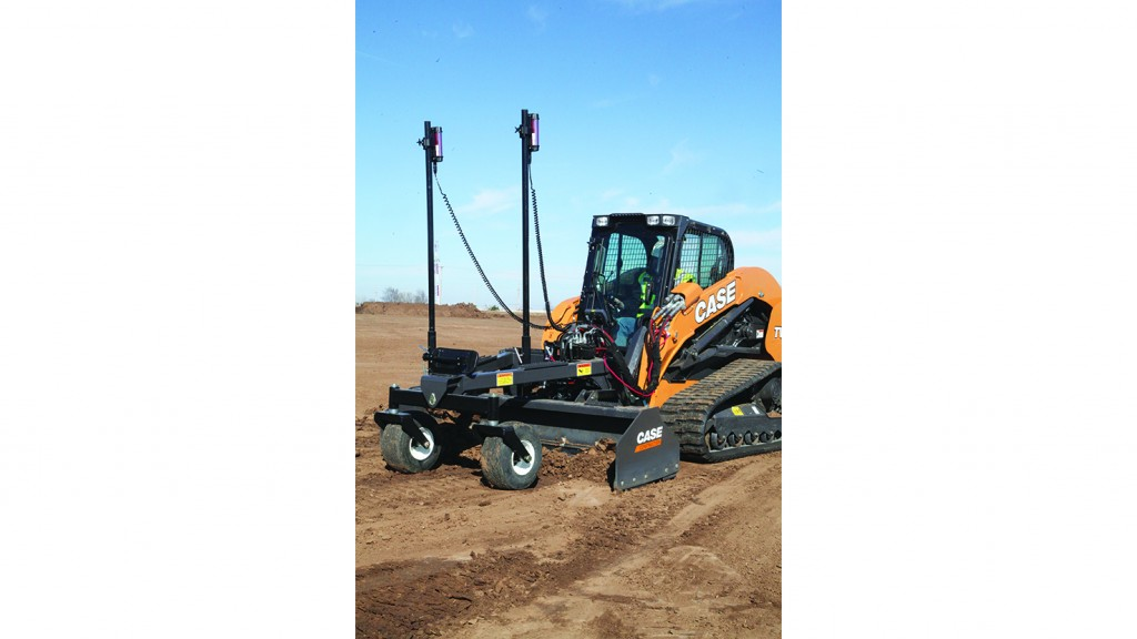 Case Laser grading box for Compact Track Loaders