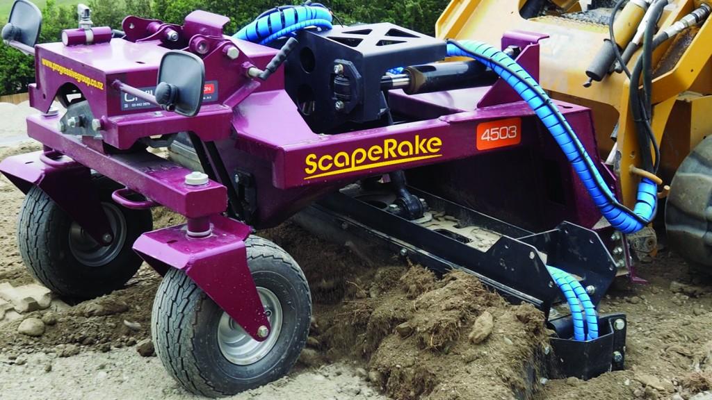 Progressive Group's ScapeRake power rake is built for tough environments