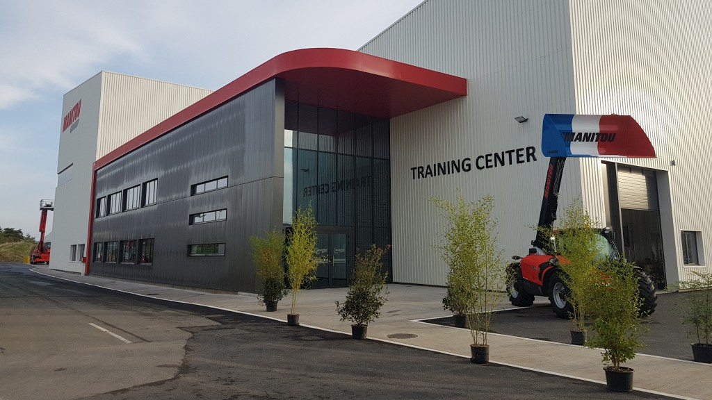 "The Manitou group's ""Training Center"" was inaugurated today in Ancenis. These premises were created specifically to train technicians to maintain, service, and repair Manitou Group products."