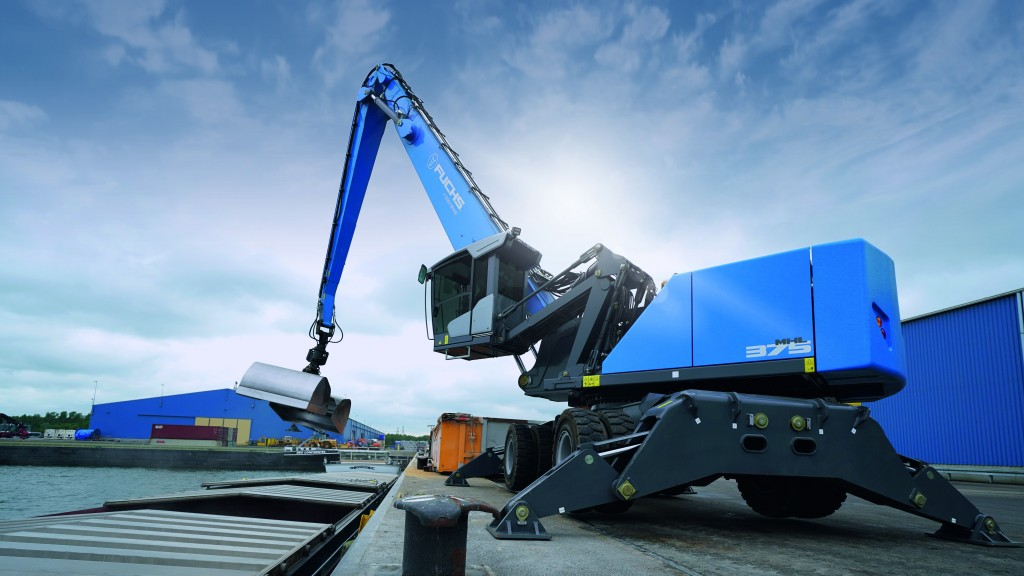 """The MHL 375 satisfies the end user looking for a 145,000 pound machine in the heavy scrap usage arena and the MHL 310 is used for waste recycling and recovery.   Both of these machines have the latest updates from Fuchs which helps make the operator more productive."""