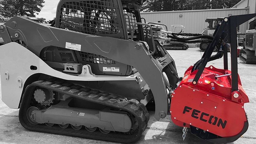 Fecon hydraulic cooler for skid-steer and compact tracked loaders keeps hydraulic fluid at optimal temperatures and viscosity