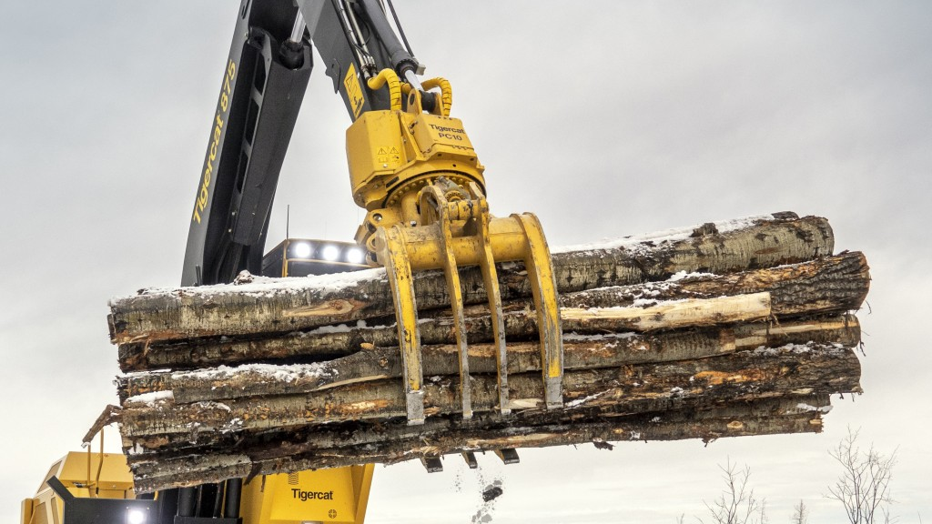 Tigercat power clam grapple series for loggers is built for strength and efficiency