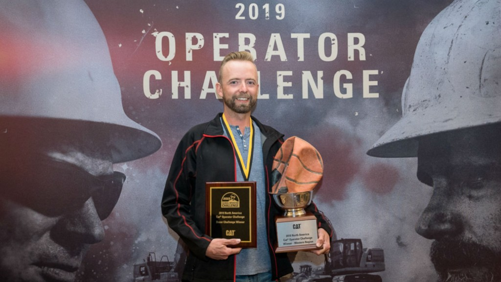 Jaus Neigum, owner of Industrial Backhoes based in Medicine Hat, won the Western Final of Caterpillar's Global Operator Challenge.
