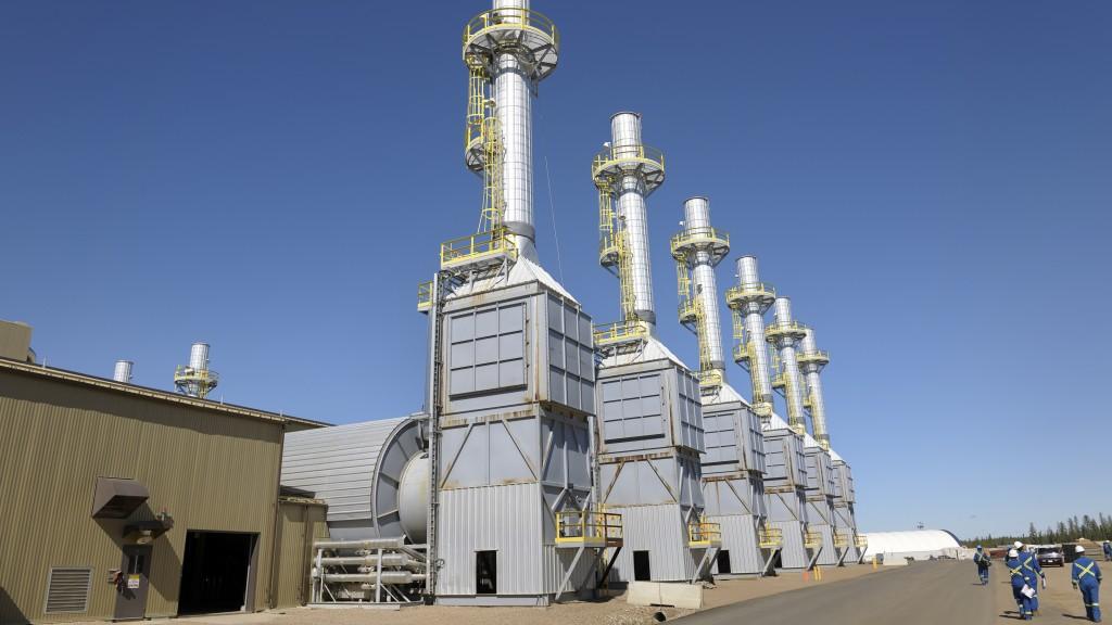 Steam generators at Cenovus's Foster Creek project in northern Alberta.