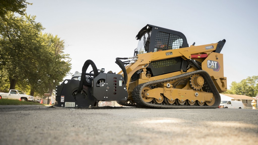 Caterpillar 299D3 compact track loader.
