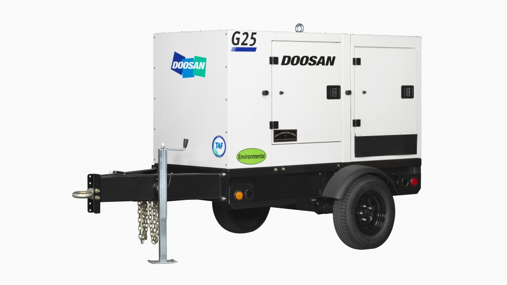 New Doosan Portable Power mobile generator is quieter than previous models
