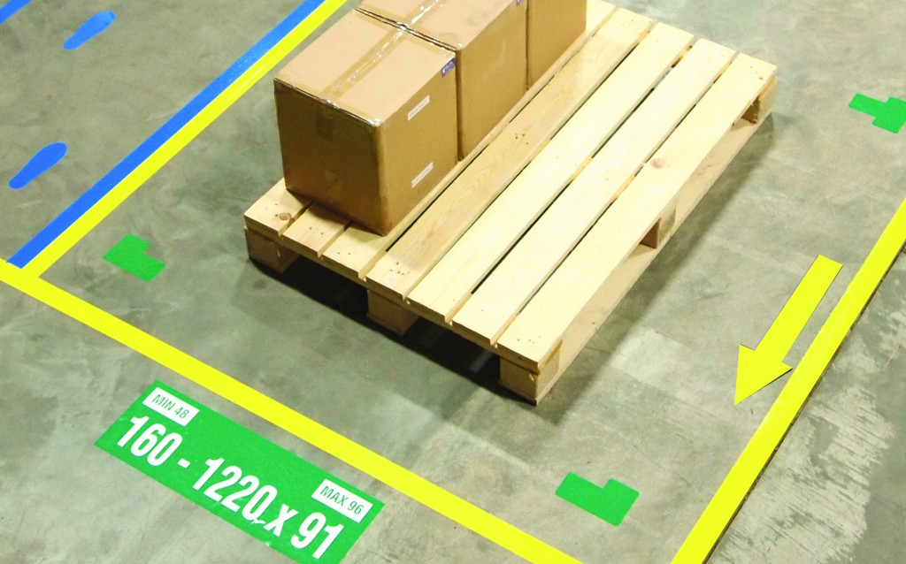 floor mark symbols in warehouse