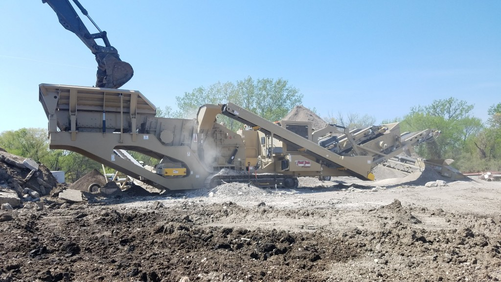Optional pre-screen available on KPI FT4250 impactor plant