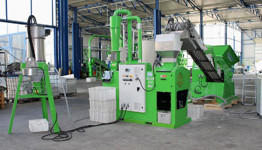 gensco guidetti sincro mill wire and cable recycler