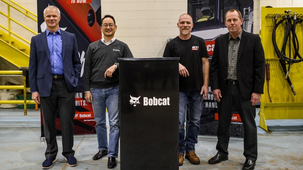 4 men presenting for bobcat