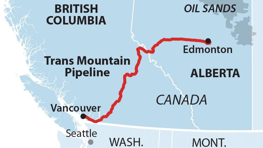 ieefa transmountain pipeline map