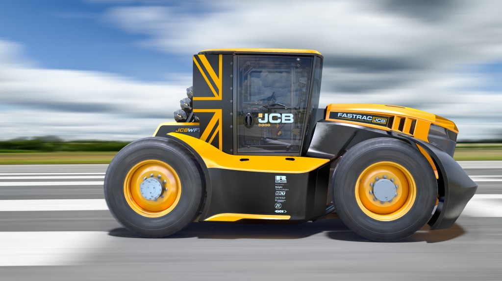 JCB Fastrac tractor breaks speed record