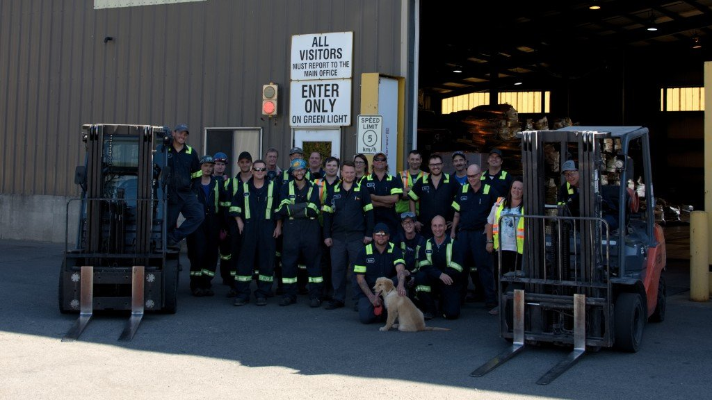 KC Recycling staff outside facility