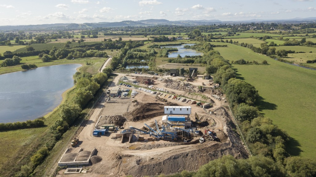 Hereford Quarries recycles 100% of inert waste with CDE wet processing plant
