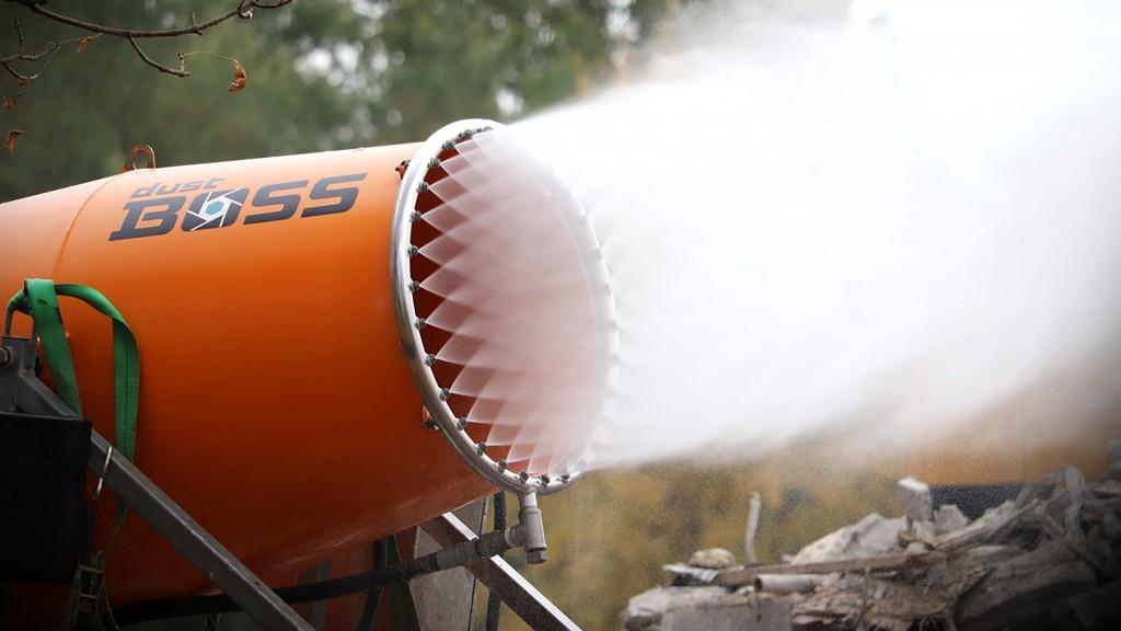 Bosstek mist dust equipment in operation
