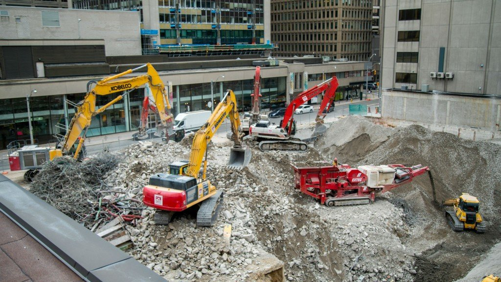 Priestly Demolition dismantles parking garage and reuses material on confined Toronto jobsite