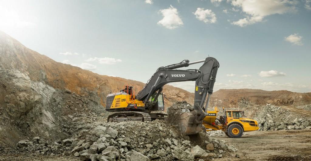 The EC950F crawler excavator is Volvo's largest.
