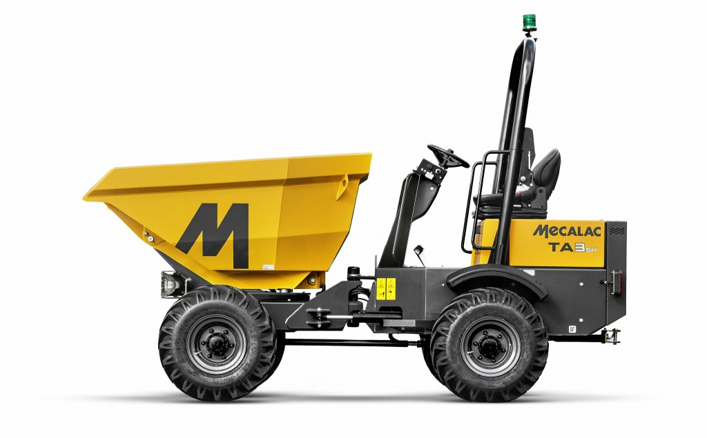 Mecalac's latest Power Swivel Site Dumper is ideal for crowded and confined jobsites