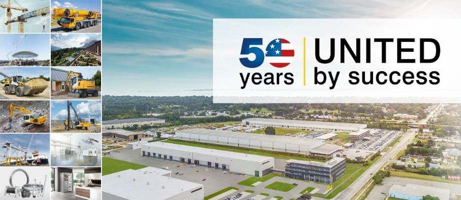 50 years of success banner for liebherr