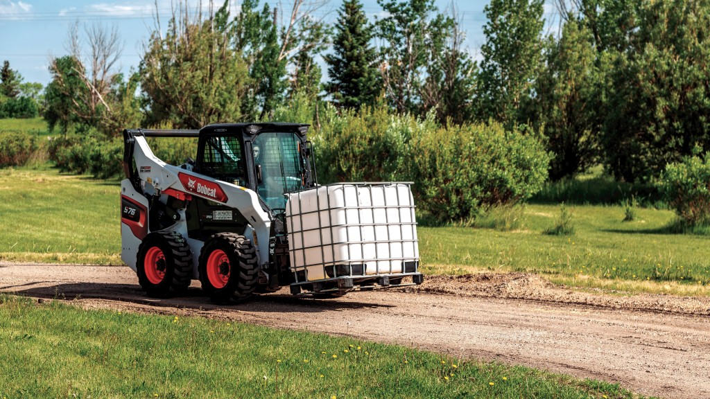 S76 compact loader in operation