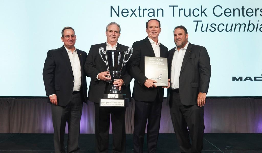 men from Nextran win Mack dealer of the year award
