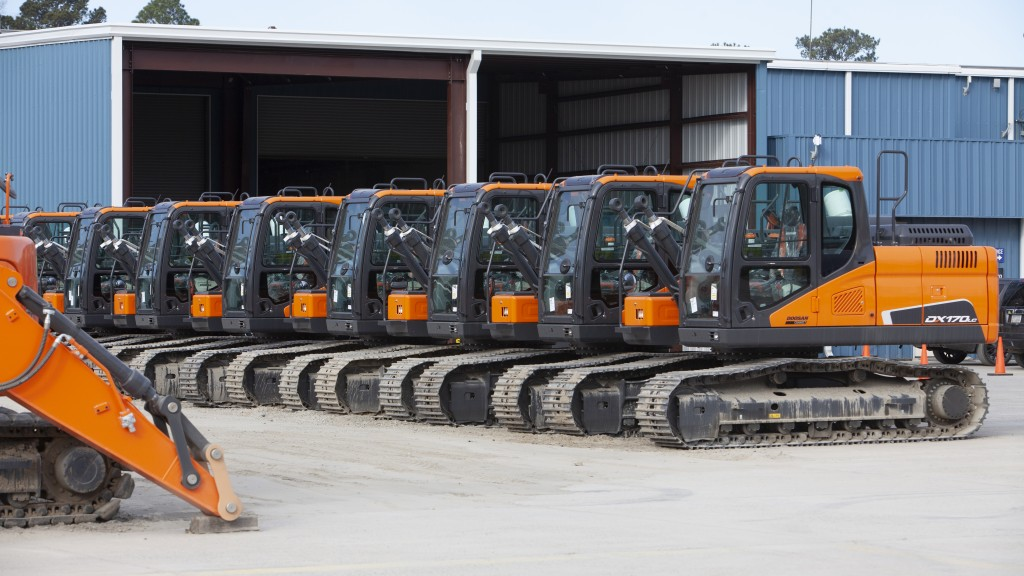 lineup of doosan machines