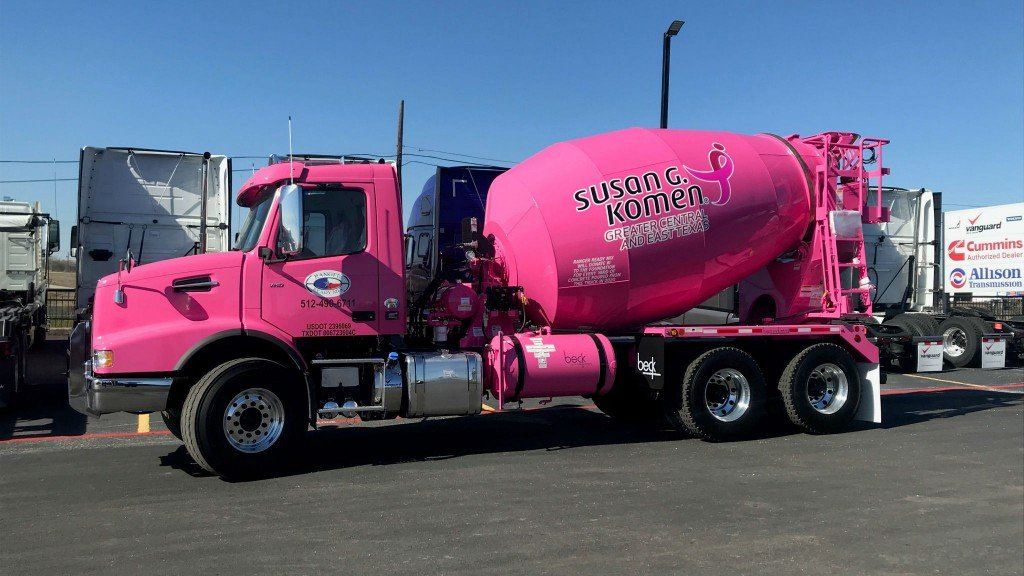 Volvo Trucks to exhibit pink truck at World of Concrete in support of breast cancer awareness