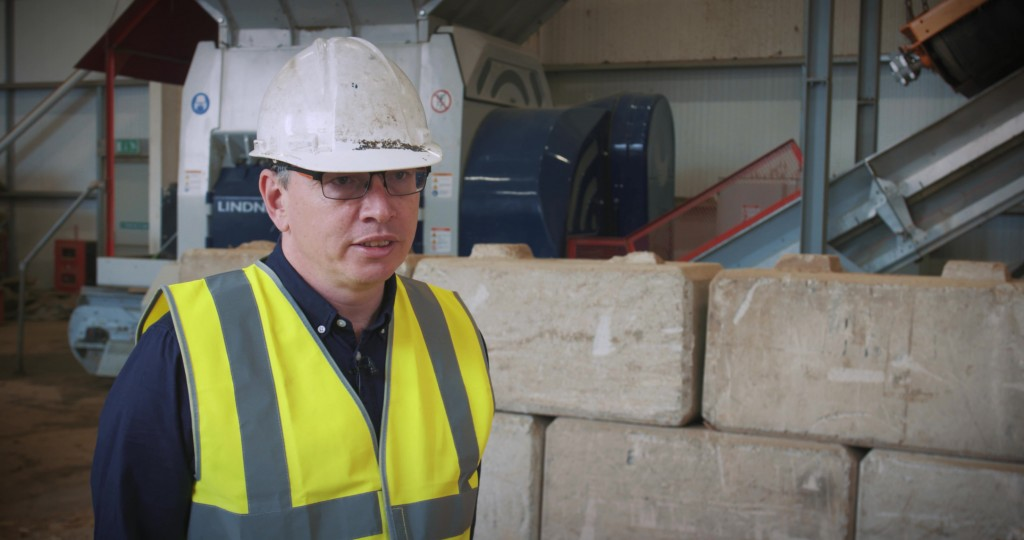 Guernsey Recycling Group's Operations Director Matthew Cox. Watch the video below.