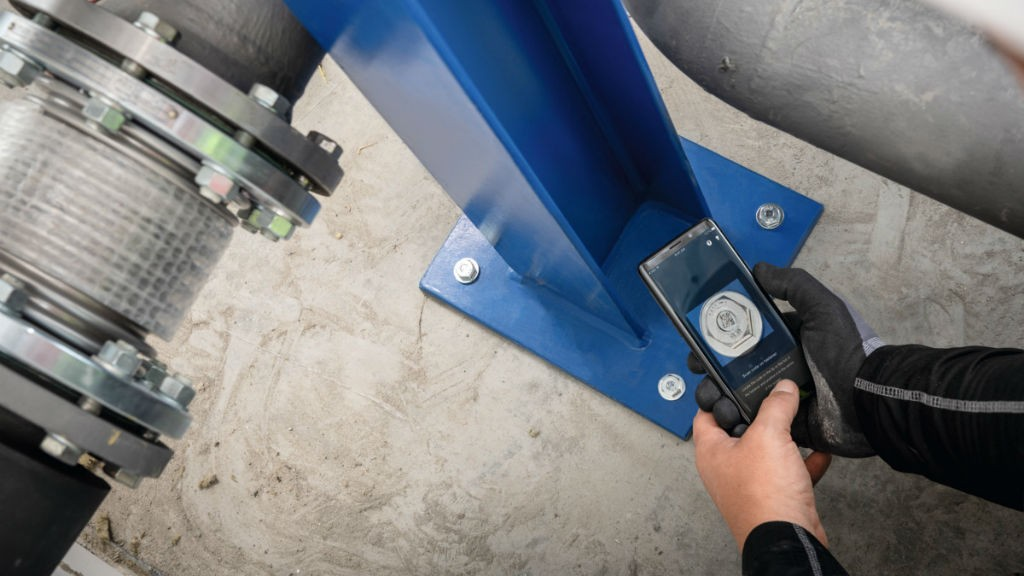 Hilti Smart Fasteners simplify identification of anchor installations