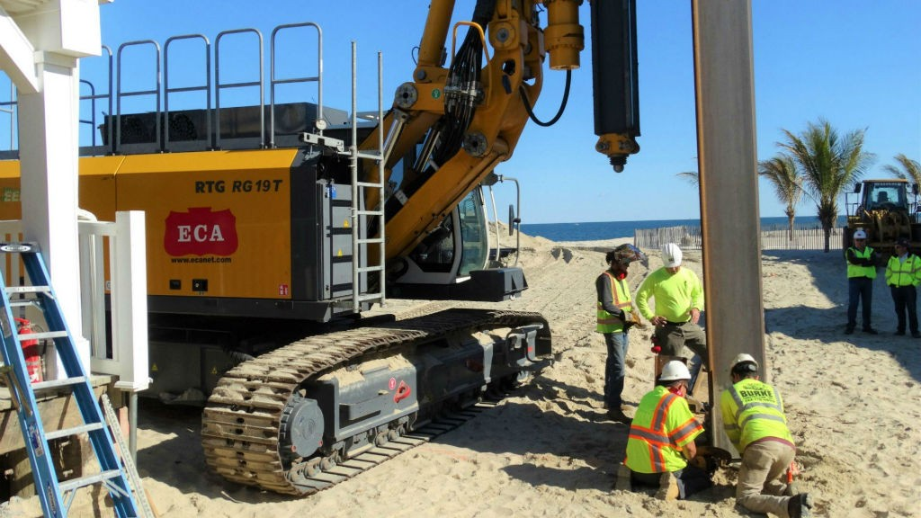 How a heavy civil contractor took on its first pile driving project