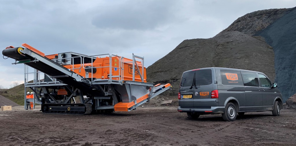 TRS BV mobile eddy current separator in the field