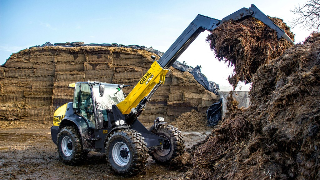 Gehl's largest telescopic articulated loader offers 17 feet of telescopic lift height