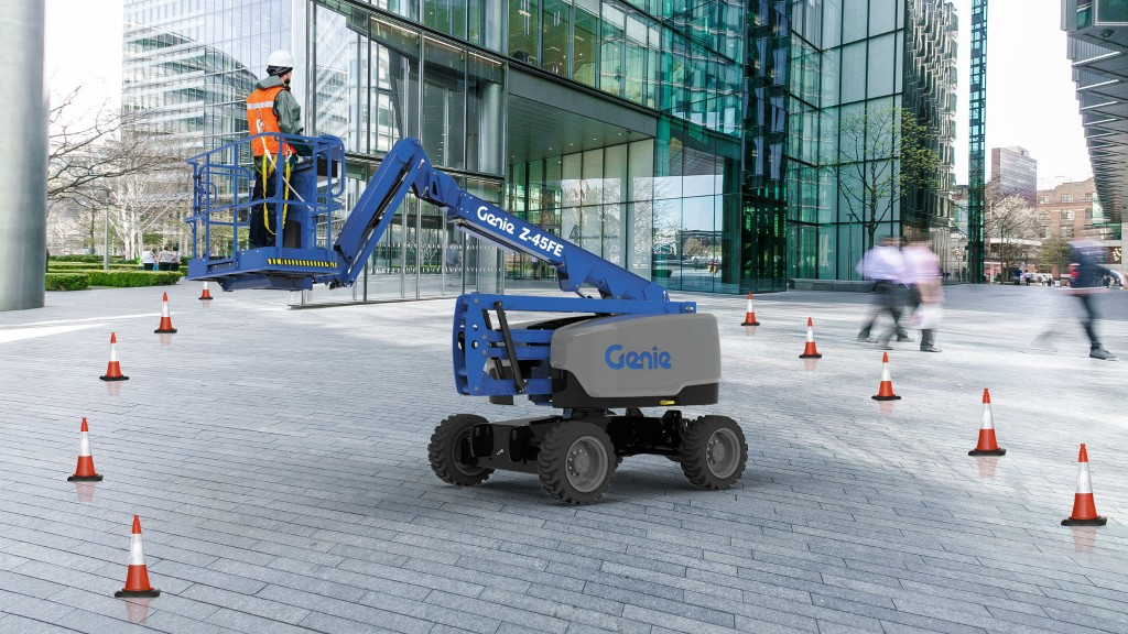 Genie hybrid articulating boom lift takes on jobs indoors and outdoors