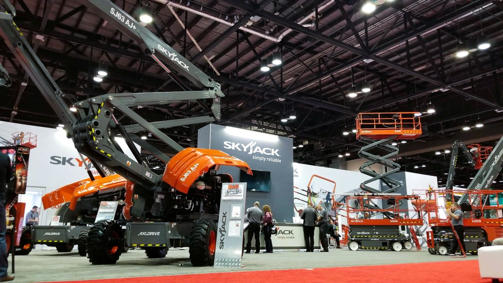 Skyjack displays range of boom lifts and scissor lifts at expo
