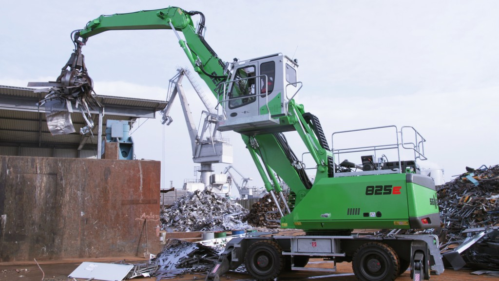 Sennebogen 825 M material handler at the scrapyard